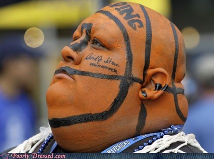 basketball,face paint,fat,sports