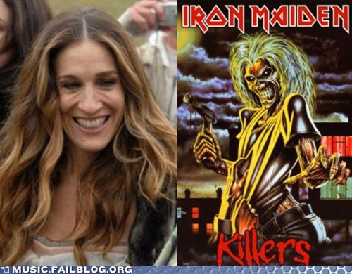 iron maiden,Sarah Michelle Gellar,totally looks like