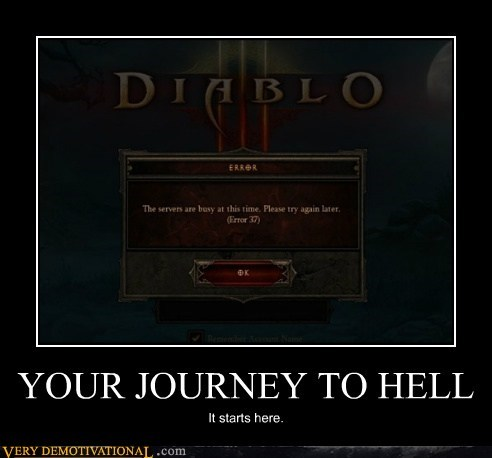 diablo 3,hell,journey,servers full,Terrifying