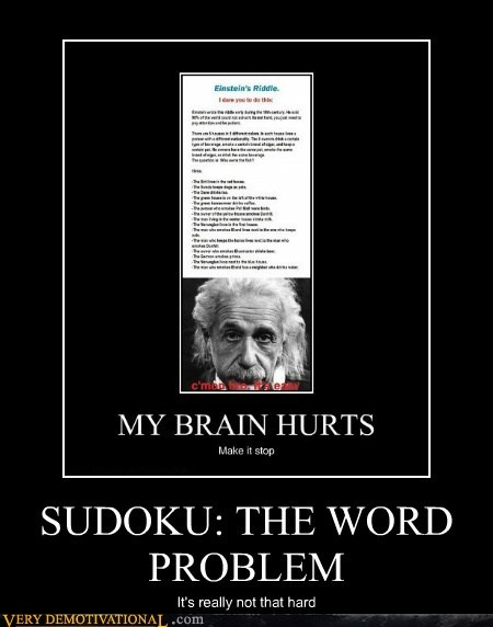 SUDOKU: THE WORD PROBLEM It's really not that hard