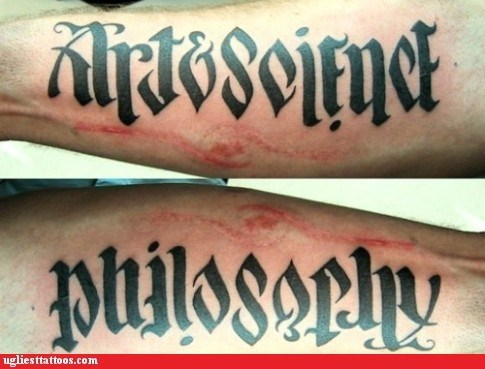 arm tattoos art philosophy science