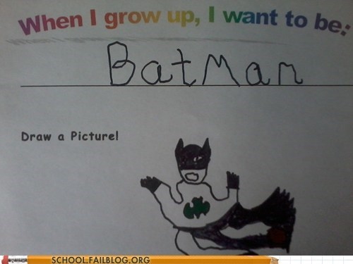 aspirations,batman,dead parents,superheroes,when I grow up