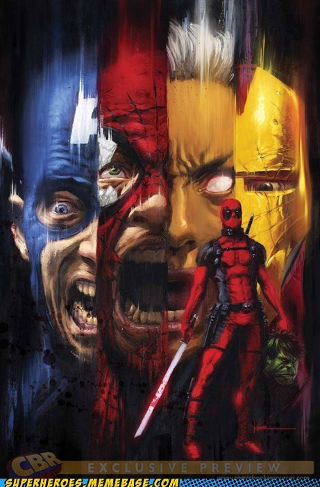 amazing Awesome Art deadpool destruction marvel universe - 6230329088