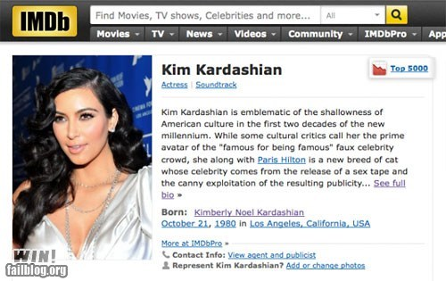 celeb g rated hack imdb kim kardashian troll win