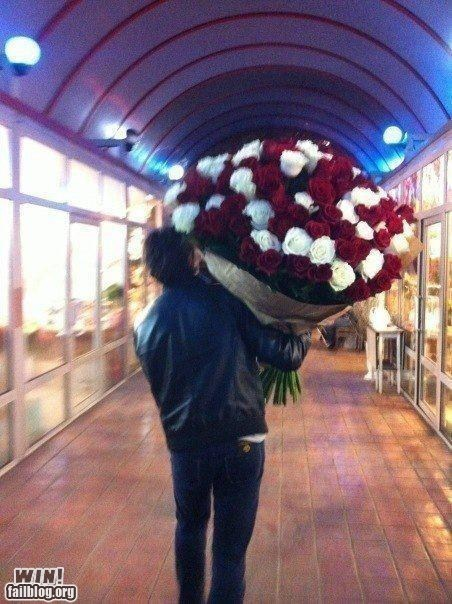 bouquet,flowers,gift,huge,present,roses