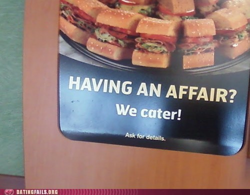 affair,catering,cheating,sandwiches