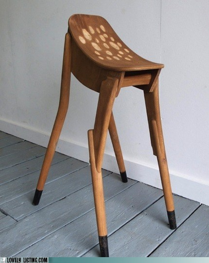 bambi deer seat spotted stool - 6230815744