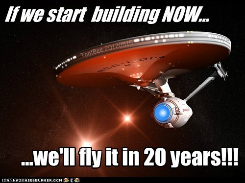 http://www.universetoday.com/ 95099/engineer-thinks-we-coul d-build-a-real-starship-enter prise-in-20-years/#more-95099