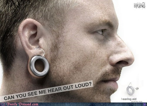 body modification,deaf,gauge,hearing aid,piercing