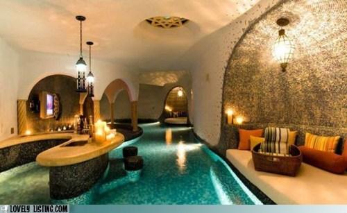 flooded house pool swim water - 6231017728