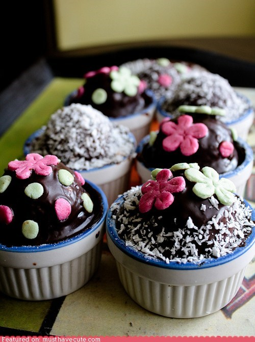 chocolate coconut epicute flowers muffins - 6231073792