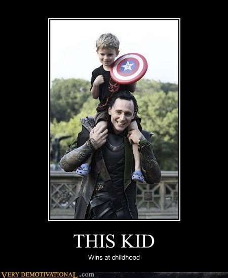 captain america,hilarious,kid,loki