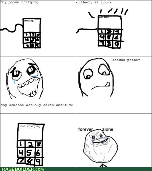 cell forever alone phone Rage Comics - 6231345408