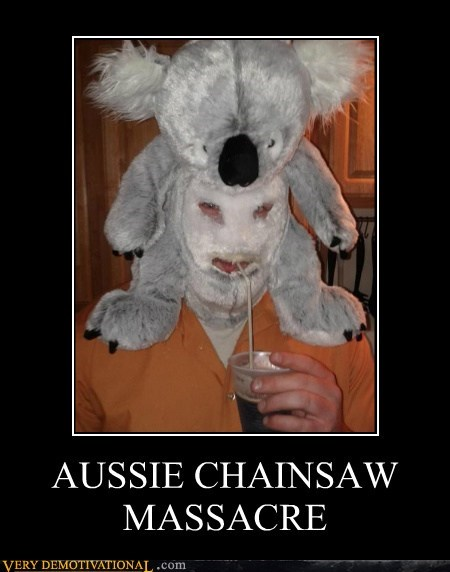 aussie,chainsaw,hilarious,koala,massacre