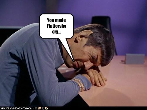 cry emotion fluttershy Leonard Nimoy Sad Spock Star Trek - 6232101632