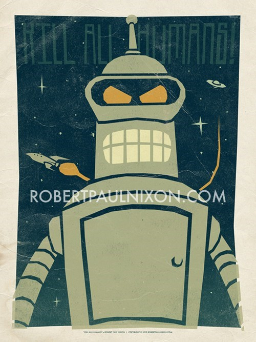 bender,Fan Art,futurama,robot