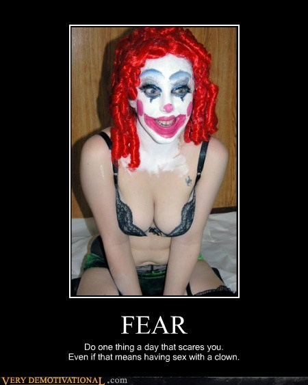 clown fear hilarious sexy times