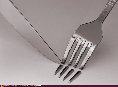 fork knife silverware wtf - 6233087232