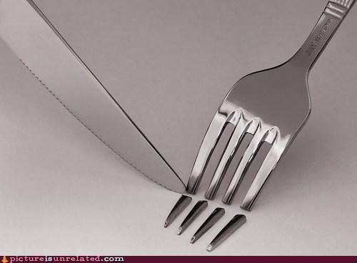 fork knife silverware wtf - 6233087232