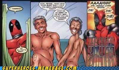 Aunt May deadpool naked Spider-Man Straight off the Straight off the Page Uncle Ben - 6233149184