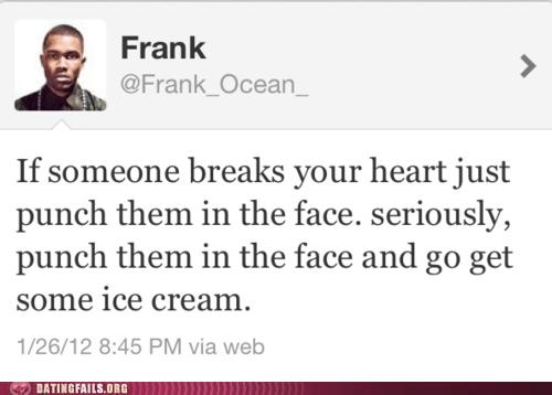 broken heart frank ocean ice cream punch them in the face