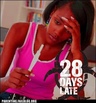 28 days later late pregnancy test