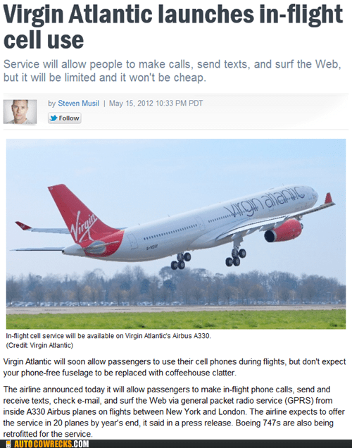 airlines,airplanes,cell phones,news,virgin atlantic