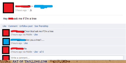 bait facebook nope tree