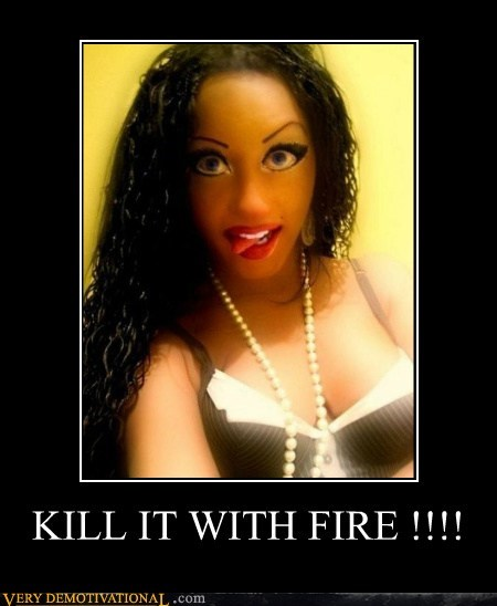 eww hilarious Kill It With Fire photoshop Sexy Ladies