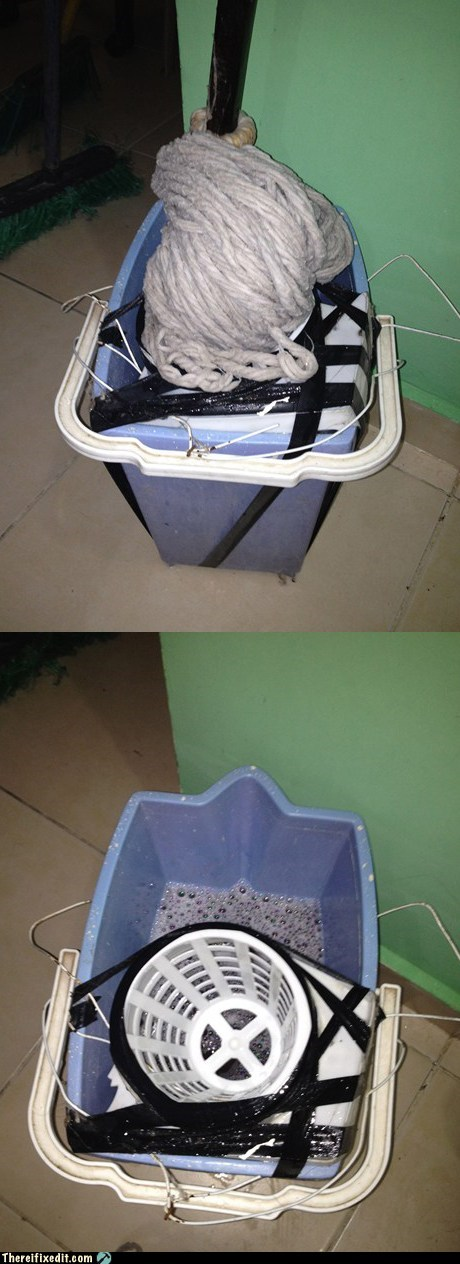 bucket mop mop and bucket wring wringing - 6233453824