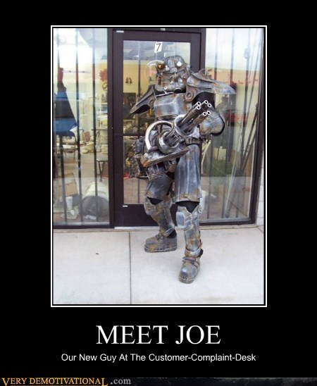 MEET JOE Our New Guy At The Customer-Complaint-Desk