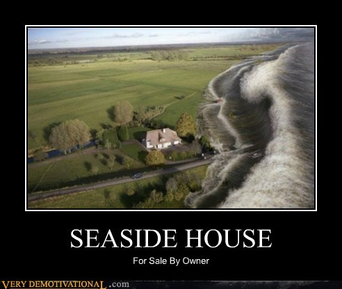 hilarious seaside house tidal wave uh oh