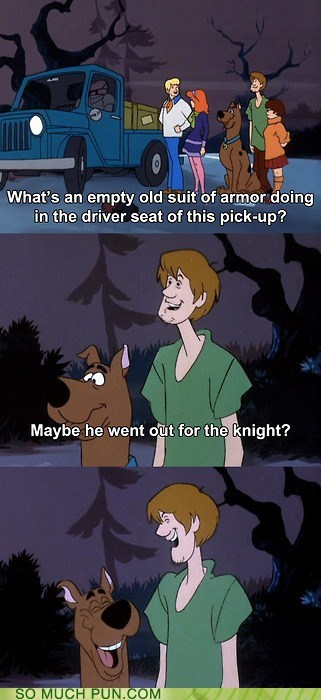 answer,Hall of Fame,homophone,knight,night,question,scooby,scooby doo,shaggy