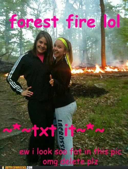 forest fire lol self poortrait tween texting - 6233552384