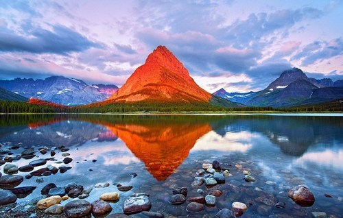 lake,Montana,mountain,rocks