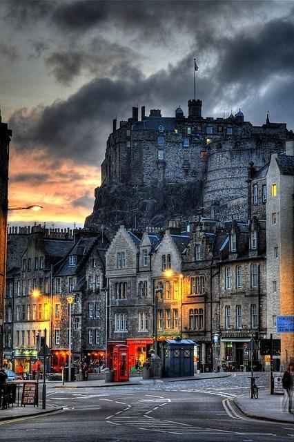 castle,dusk,Hall of Fame,medieval,scotland