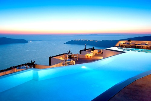 bay dusk greece Hall of Fame ocean pool - 6233582080