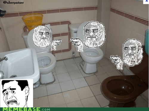 Rage Comics,toilet,watching you,weird