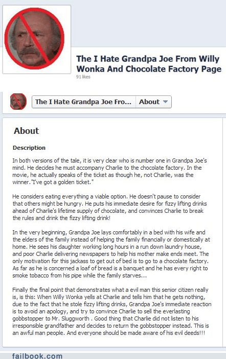 Featured Fail,grandpa joe,Movie,movies,Willy Wonka,willy wonka and the choco