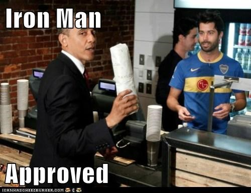 barack obama,iron man,political pictures,The Avengers