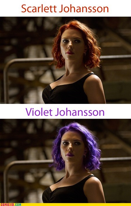 From the Movies rainbow scarlett johansson The Avengers - 6233678080