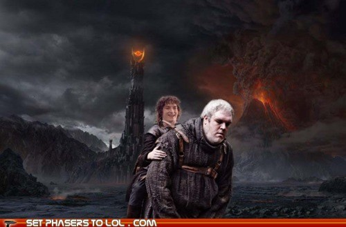 best of the week carry elijah wood Frodo Baggins Game of Thrones kristian nairn Lord of the Rings mashup one does not - 6233691648