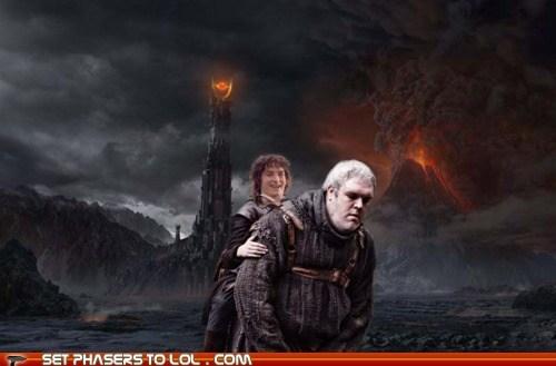 best of the week carry elijah wood Frodo Baggins Game of Thrones hordor kristian nairn Lord of the Rings mashup one does not - 6233691648
