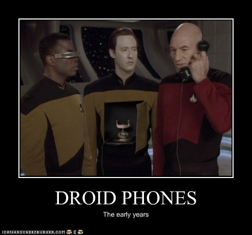 android brent spiner Captain Picard data early years Geordi Laforge levar burton patrick stewart phones Star Trek