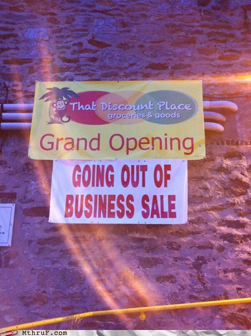 grand opening out of business sale