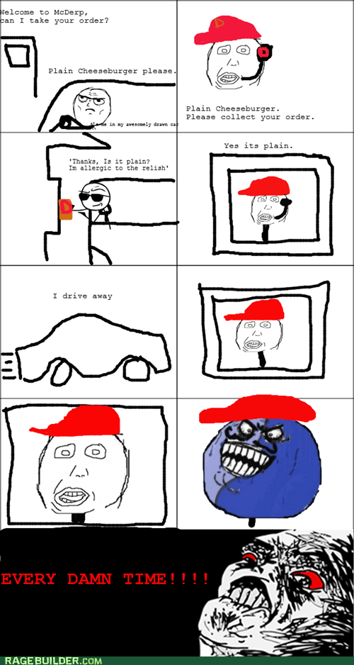allergies,burger,i lied,Rage Comics,relish