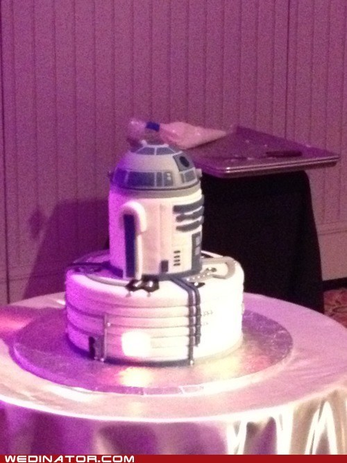 cakes droids funny wedding photos grooms cakes r2d2 robots - 6234056704