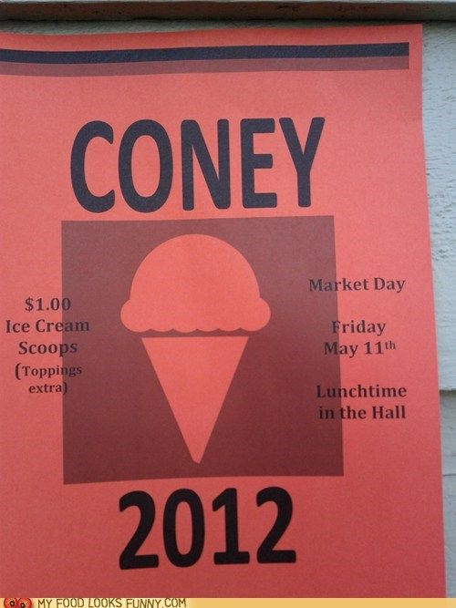 cone coney ice cream Kony Protest sale