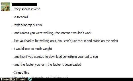 downloading,facebook,fitness,laptop,treadmill,workout