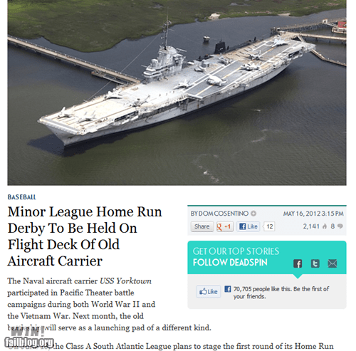 aircraft,baseball,completely relevant news,navy,sports
